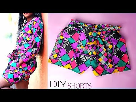 DIY Elastic Paperbag Shorts without a Pattern