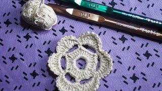 Мотив №1. Цветочек. Вязание ирландских кружев для начинающих
