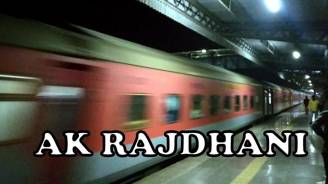 WAP7 AK Rajdhani Brutally Thrashes AMUL WAP5 Saurashtra Janata at Palghar | INDIAN RAILWAYS