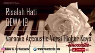 Dewa 19 - Risalah Hati Karaoke Akustik Versi Higher Keys