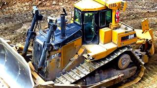 Caterpillar D9R Ripping Overburden