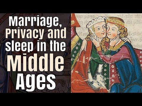 Did medieval married couples sleep in a private bed?