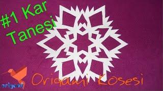 ❄❄Kağıttan Kar Tanesi Yapımı #1 Kağıttan Kar Tanesi Nasıl Yapılır. (Origami Köşesi)