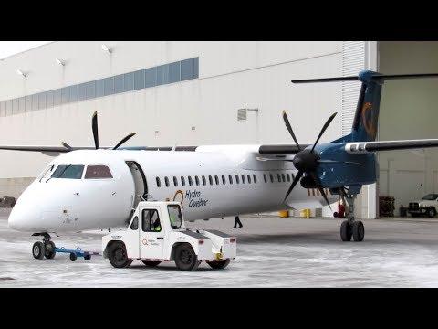 Hydro-Quebec Bombardier Dash-8 Q400 (DH8D) landing in Montreal (YUL/CYUL)