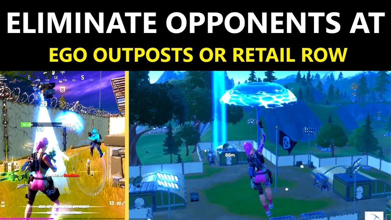 Eliminate Opponents At Ego Outposts Or Retail Row Fortnite Week 3 Forged In Slurp Challenges