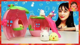 부르르 아기토끼 아기병아리 돌보기 소꿉놀이 역할놀이 아기 애완동물 돌보기 베이비펫 유아 장난감 놀이 [유라]