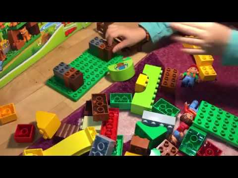 Как построить домик игра Лего Дупло конструктор