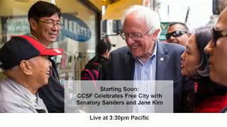 Bernie Sanders celebrates as San Francisco becomes the 1st US city to offer free college