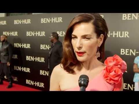"Ben-Hur: Ayelet Zurer ""Naomi Ben-Hur"" Red Carpet Movie Premiere Interview"