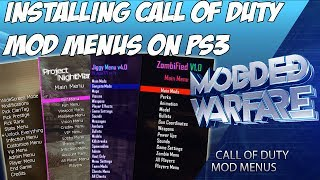 (EP 7) Installing Call of Duty Mod Menu's on a Jailbroken PS3