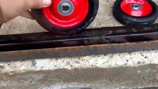 видео Раздвижные, сдвижные ворота для дачи, гаража и производства