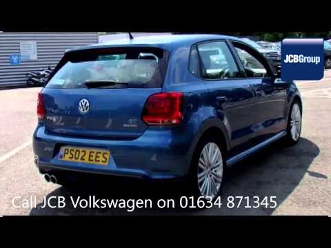 2013 Volkswagen Polo BLUEGT DSG 1.4l Blue Silk Metallic PS02EES for sale at JCB VW Medway