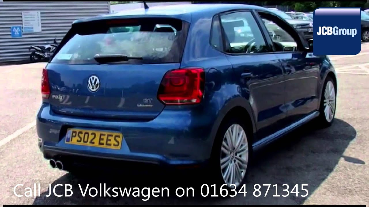 2017 Volkswagen Polo Bluegt Dsg 1 4l Blue Silk Metallic Ps02ees For At Jcb Vw Medway