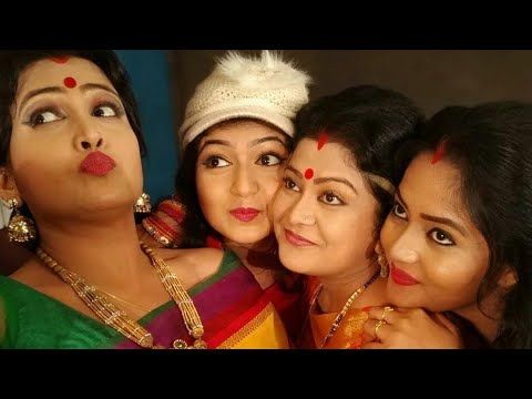 to aganara tulasi mu- odia serial artists in full masti at shooting set