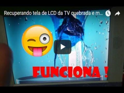 Tela da TV quebrada ou com mancha - Recuperando !