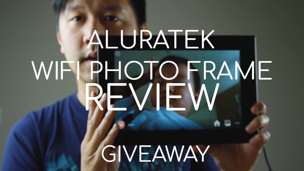 Aluratek 10 Wifi Digital Photo Frame Review Giveaway Youtube