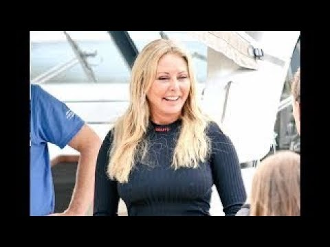 Carol Vorderman Massive Erect Pokies 2017. Tight Teasing Gym Outfit At Harbour