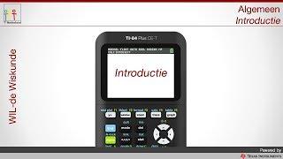 TI-84 Plus CE-T Introductie