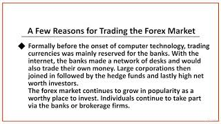 Forex Stock Trading: Technical Analysis and Risk Management : Understanding The Forex Market