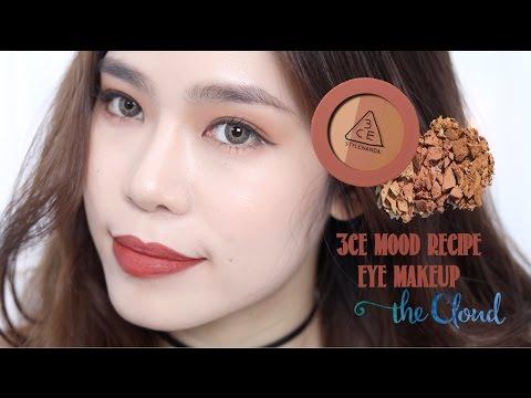 3CE MOOD RECIPE EYE MAKEUP 🍂 | Trang điểm mắt tone nâu đỏ cho mùa thu