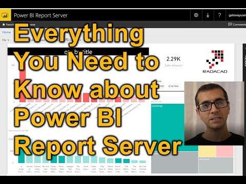 Power BI Report Server On Premises Solution For Power BI Explained