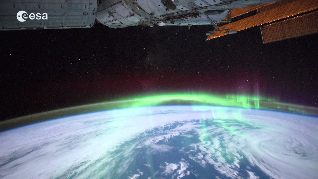 Iss Hd Wallpaper Aurora Australis From Space Station Youtube
