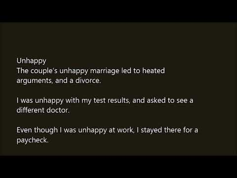 Unhappy marriage test