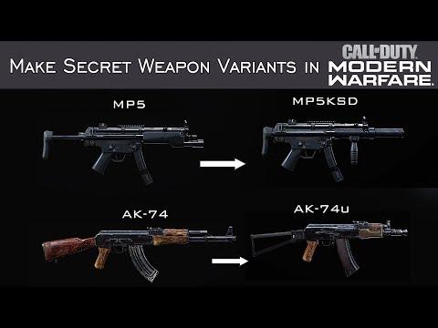 Modern Warfare - How To Create Hidden Weapons In The Gunsmith