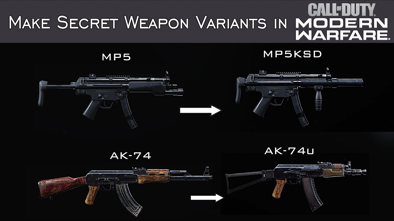 How To Create Hidden Weapons In Modern Warfare Part 1 Youtube