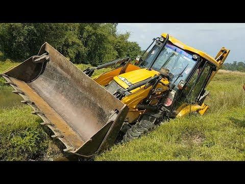 JCB Dozer Amazing Work in Difficult Place - JCB Dozer Making Drain - JCB VIDEO