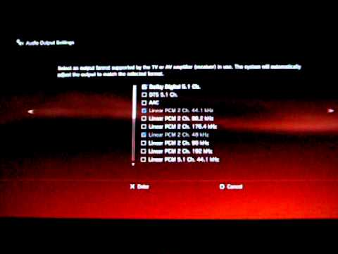 how to fix audio error,lag,absence with HDMI on ps3