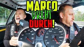 Mit 3BAR über die AUTOBAHN! - Audi Coupé 5Zylinder TURBO! - Marco geht ans LIMIT!