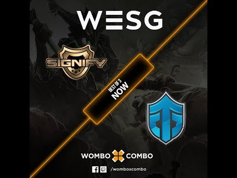 Entity Gaming vs Signify Game 1 (BO3) | WESG 2017 APAC Qualifiers