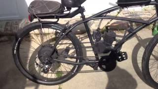 motorized bicycle  35mph solution to high gas prices
