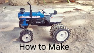 how to make New Holland tractor model