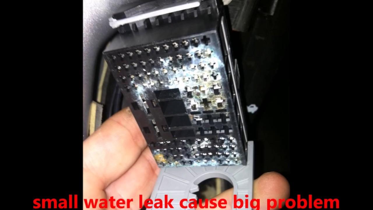 Buick lacrosse water leak - YouTube