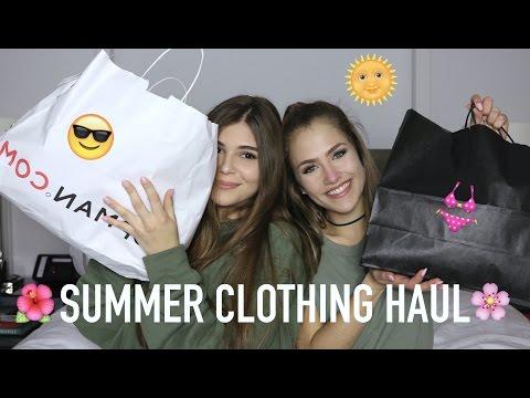 SUMMER CLOTHING HAUL W/ OLIVIA JADE (Topshop, Brandy Melville)   Mel Joy