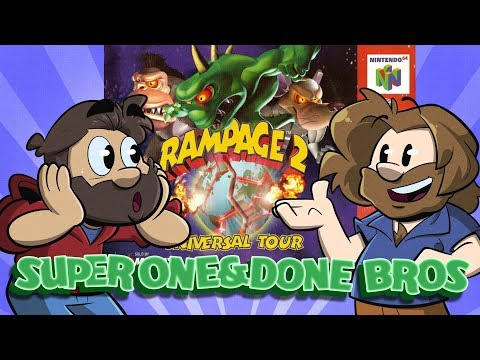 Super One and Done Bros | Let's Play: Rampage 2 | Super Beard Bros.