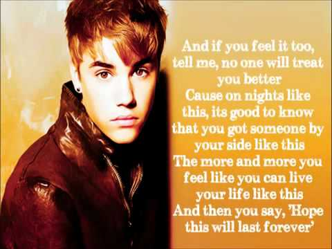 Justin Bieber Forever New Song Lyrics Youtube