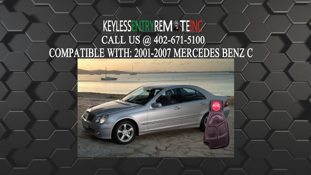 How to replace mercedes benz c class key fob battery 2001 for How to change mercedes benz key battery