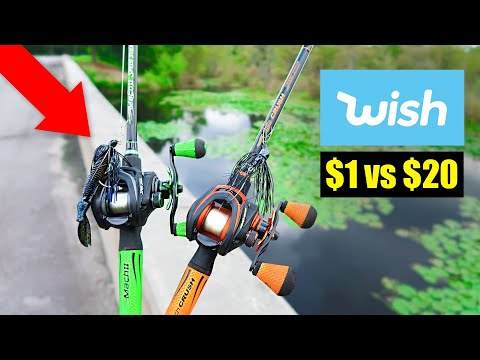CHEAP Vs EXPENSIVE WISH APP Chatterbait Fishing Challenge