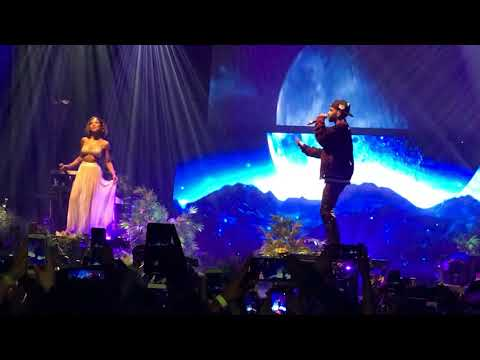 Jhené Aiko Brings Out Big Sean to Perform Moments  Trip Tour, Los Angeles  The Lunch Table