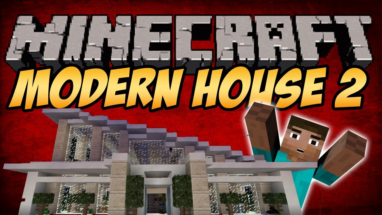Minecraft building tutorial modern house 2 part 1 2 for Modern house 6 part 2