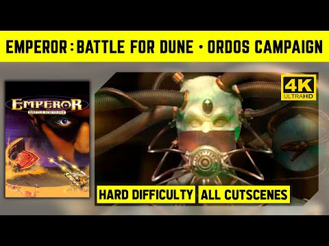 Emperor: Battle For Dune 4K - Ordos Campaign - Hard Difficulty - No Commantary Longplay