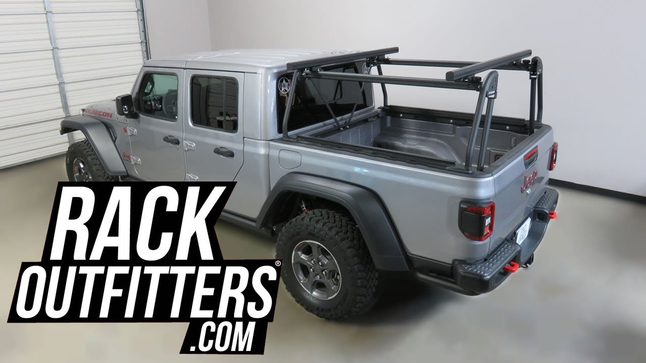jeep gladiator with leitner acs offroad truck bed rack system