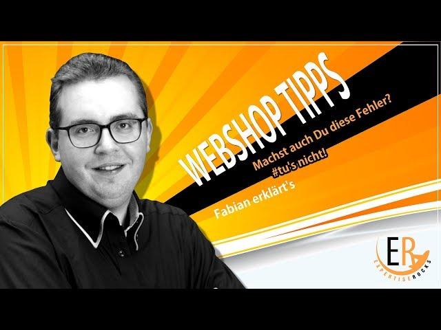 Webshop Tipps: machst auch Du diese Fehler? 👹#tusNicht