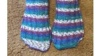 Loom Knit The Toe Up Angie Sock Beginning to End