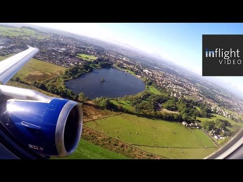 Stunning Buzzsaw Departure from Leeds Bradford!  British Airways A319 (with ATC)