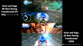 Vita vs 3DS - Sonic and Sega All-Stars Racing Transformed (demo comparison)