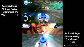Vita vs 3DS - Sonic and Sega All-Stars Racing Transformed (demo comparison)